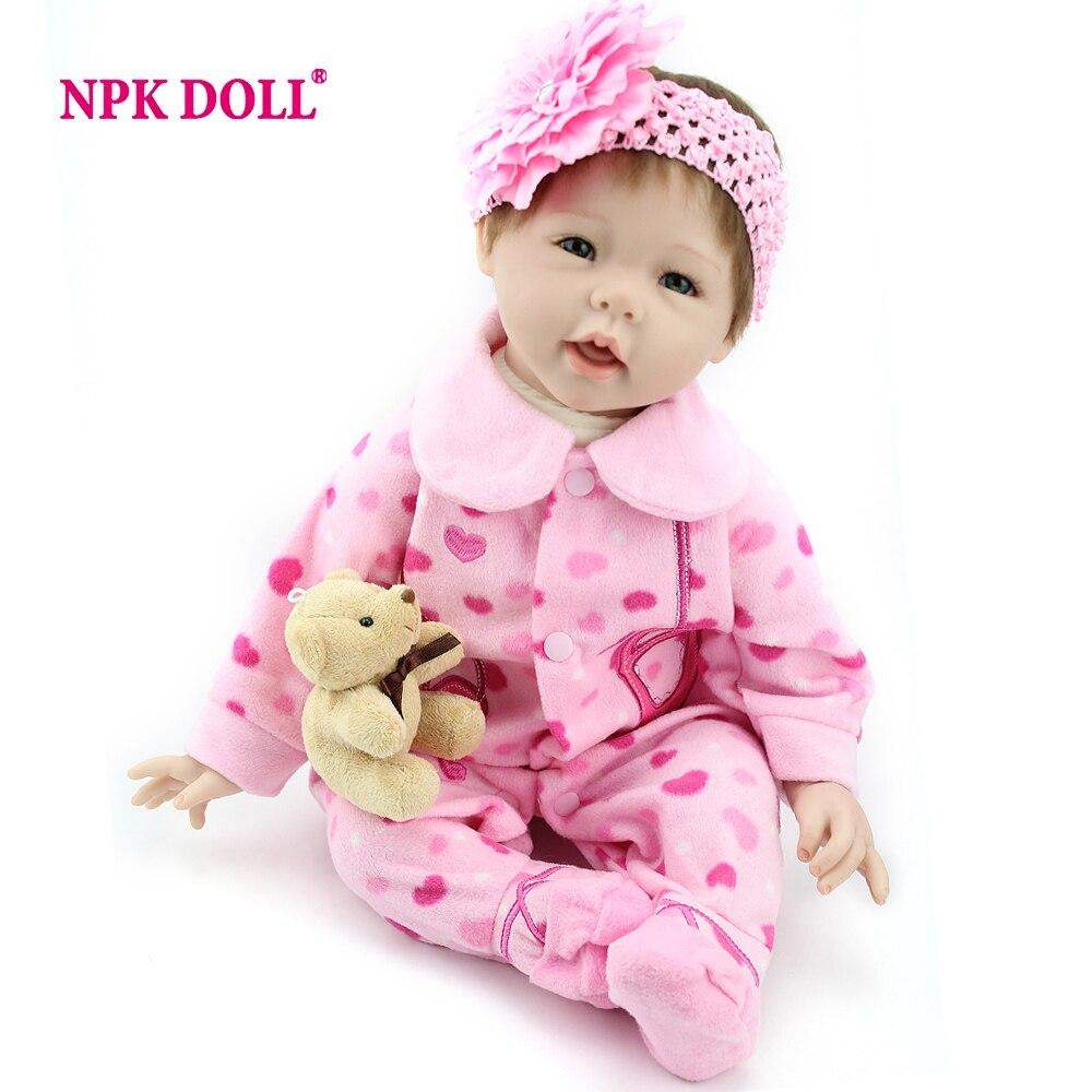 NPKDOLL Baby Reborn 55 cm Lifelike boneca reborn menina Toys For Girls Newborn Baby Christmas Gift silicone bonecas reborn цена