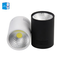 Dimmable Surface Mounted LED Downlight 7W/10W COB LED ceiling down  AC110V/220V spot light+ led driver white/Black Housing Color