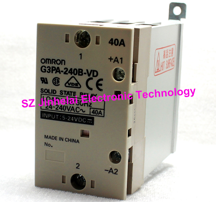 цена на Authentic original G3PA-240B-VD OMRON Solid state relay 40A 5-24VDC DC5-24V