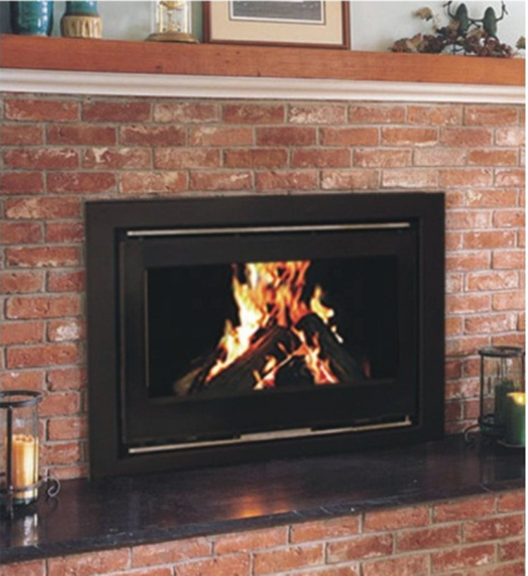 Yn 090 Modern Metal Wood Burning Fireplace Insert Insert Head