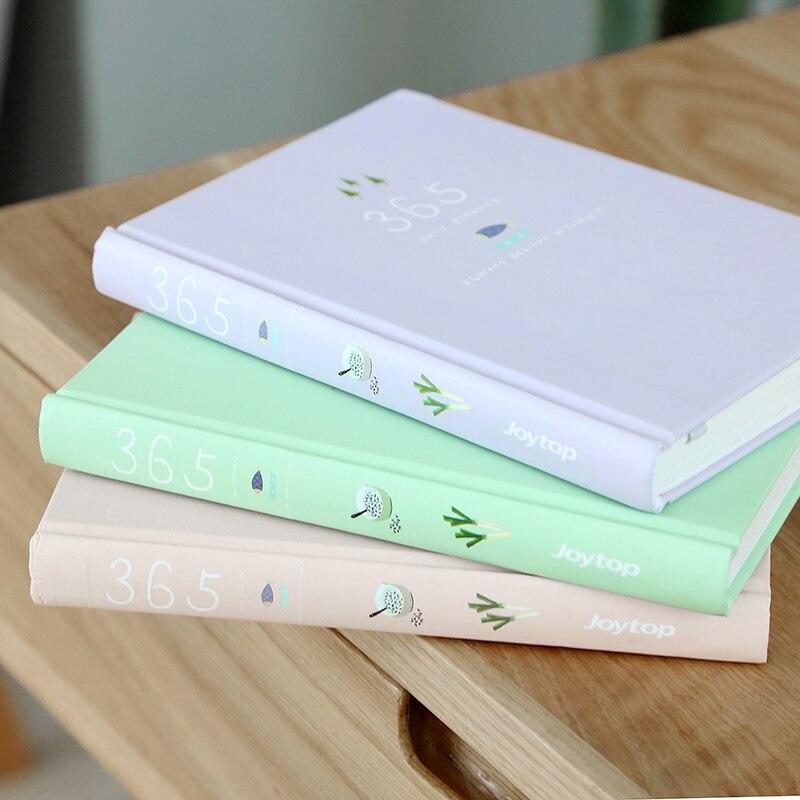 צבע ממתקים חמוד ציוד לבית ספר נייר מכתבים יומן מחברת מתכנן 365 ימי זמנים יומיים