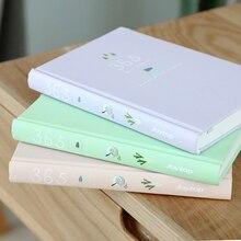 Милые Карамельный цвет 365 дней планировщик ежедневный график Тетрадь дневник канцелярские школьные принадлежности