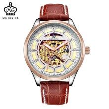 ORKINA 2016 Розового Золота Мужские Часы Класса Люкс horloges mannen Автоматические Механические Часы reloj hombre Наручные Часы