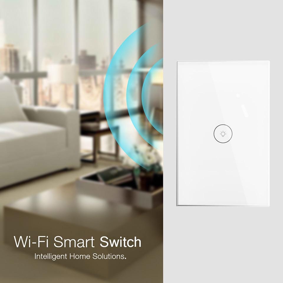 Wifi Smart Wall Switch US EU UK Power Plug Mobile APP Remote Control Works with Amazon Alexa Google Home for Smart Life