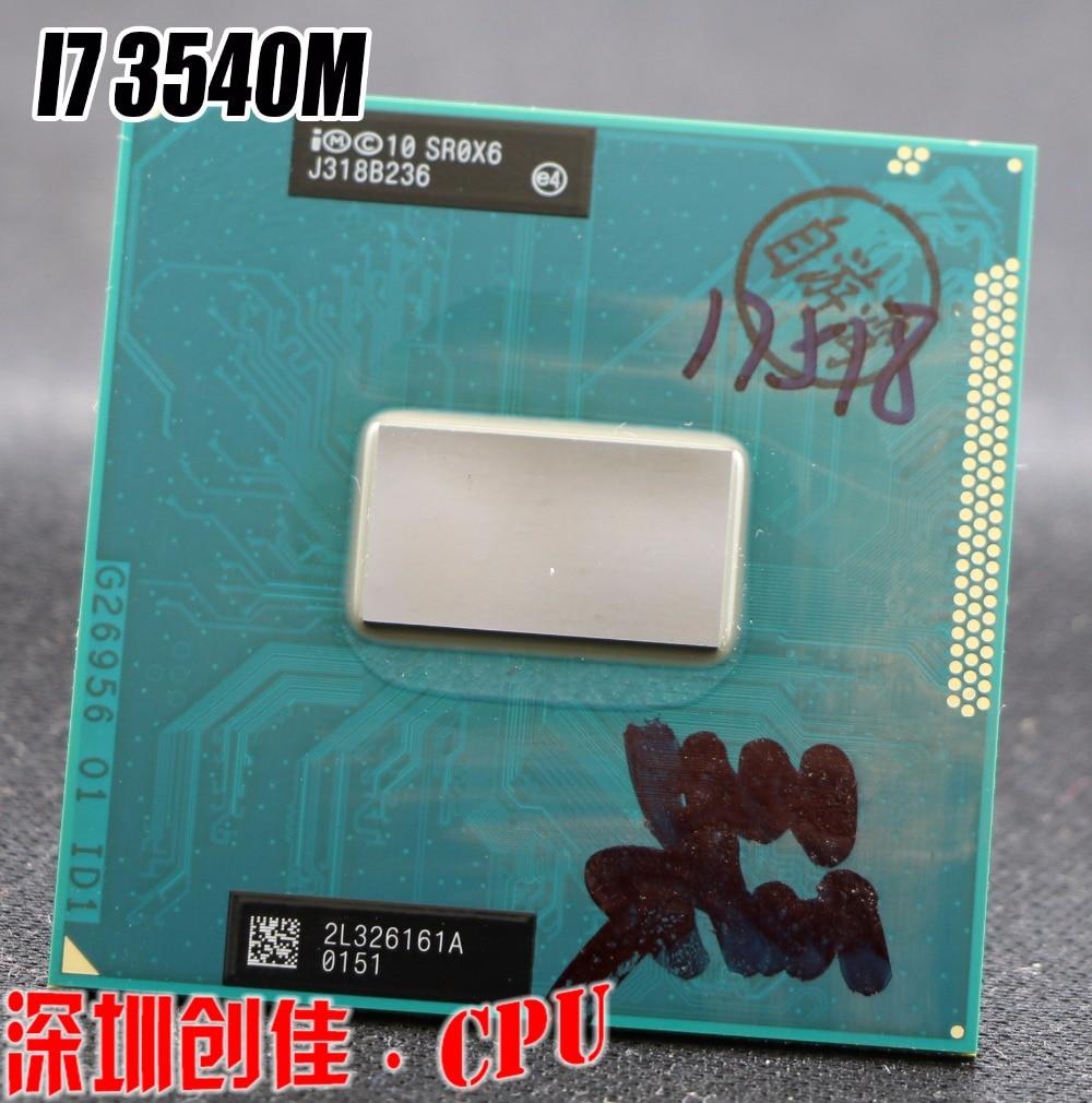 Original intel Core i7 3540M 3.0GHz 4M Dual Core SR0X6 3540 Notebook processors Laptop CPU PGA 988 pin Socket G2 processor