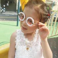 2019 Designer kinder zonnebril Runde Sonnenbrille Kinder Brille UV400 Baby Sommer Brillen Vintage Nettes Mädchen jungen Brillen n297
