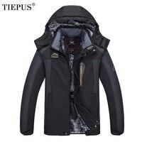 TIEPUS new plus size XL~6XL 7XL 8XL 9XL hooded jacket men's winter Windbreaker plus velvet warm waterproof Down jacket male Coat