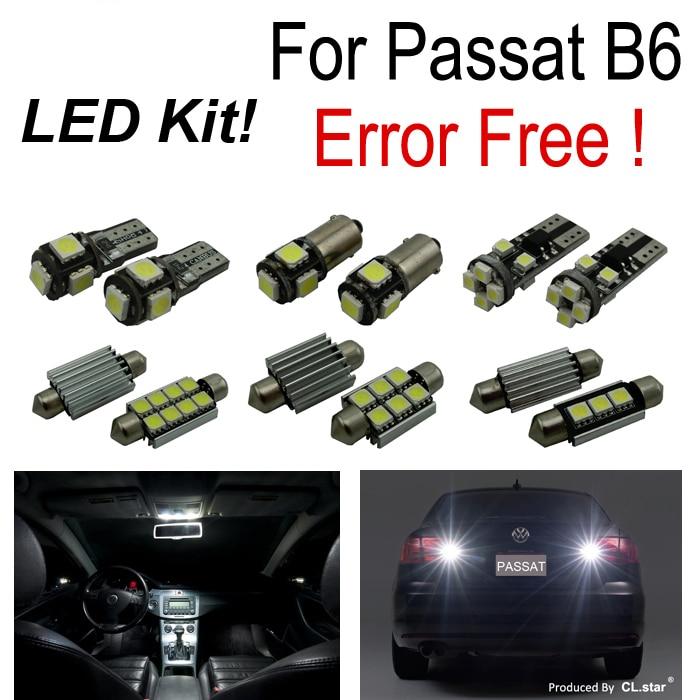 17pc perfect  Error free for Volkswagen VW Passat B6 LED interior light reverse light parking city light Kit Package (2006-2010) for volkswagen passat b6 b7 b8 led interior boot trunk luggage compartment light bulb