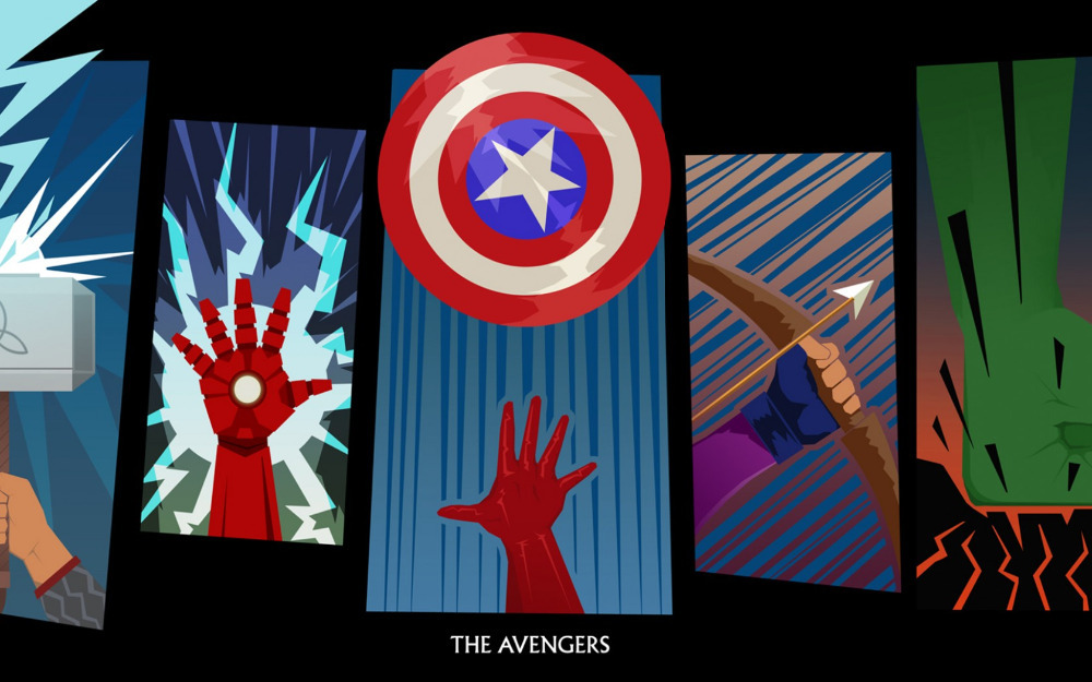 Free ShippingAvengers Marvel Superhero LogoPoster HD HOME WALL Decor Custom ART PRINT Silk Wallpaper Unframed 441 In Painting Calligraphy From Home