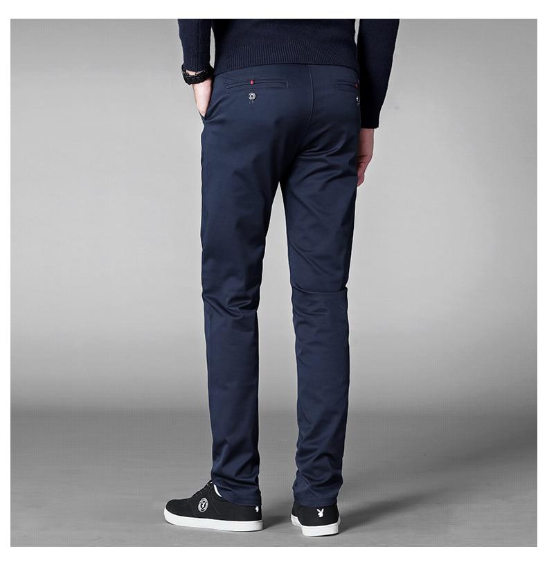 HTB1Z6MvadzvK1RkSnfoq6zMwVXam 4 Colors Casual Pants Men Classic Style 2019 New Business Elastic Cotton Slim Fit Trousers Male Gray Khaki Plus Size 42 44 46