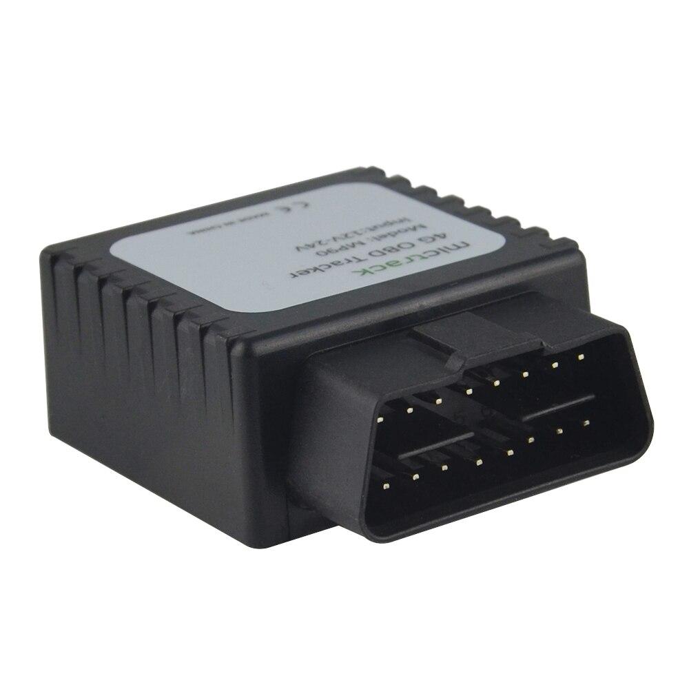 4G FDD LTE en temps réel GPS Tracker MP90 OBD II connecteur surveillance vocale 4G OBD2 GPS suivi MP90 périphérique Plug & Play installation facile