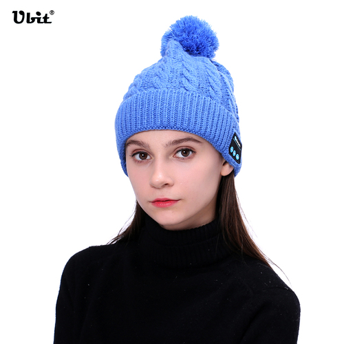 Ubit WM5 Wireless Bluetooth Headphones Warm Knitting Music Smart Hat Headset Earphone With Mic Speaker Outdoor Sport Winter Hat practical outdoor sports bluetooth headphones speaker mic winter warm knitted beanie hat