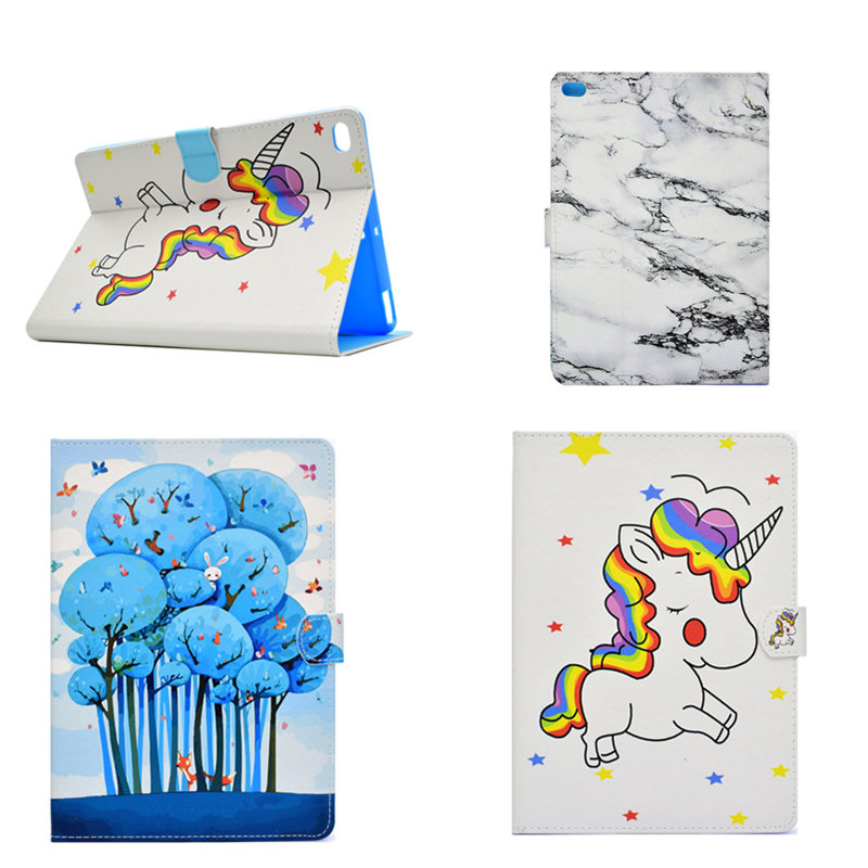 Fashion Painting Flip Silicone TPU Back PU Leather Case Cover Funda Cases For Apple New iPad 2017 9.7 A1822 A1823 Tablet