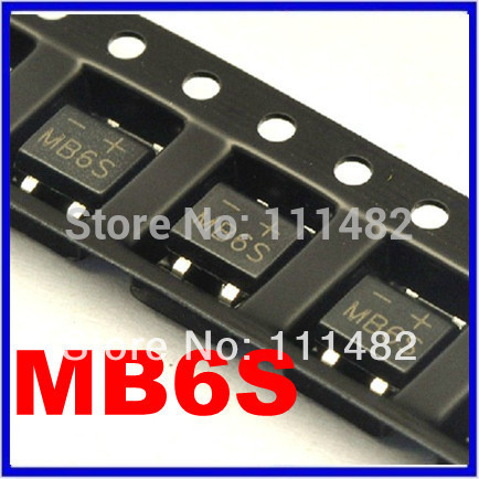1000pcs SMD MB6S 0.5A 600V Single Phases Diode Rectifier Bridge SOP-4