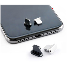 Модный пылезащитный заглушка для порта зарядки, металлический заглушка для защиты от пыли для iPhone 5 5S 6 6s 7 8 X Xr Xs Max, 100 шт./партия