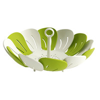 New Flower Design Bowl Colorful Fruit Vegetable Plastic Scalable Dish Plate Tableware Tools Creative Tea Tray