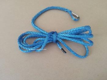 Niebieski 3 16 #8222 * 10ft ATV pług windy liny syntetyczny kabel wciągarki syntetyczny pług śnieżny windy liny tanie i dobre opinie Holowania liny uhmwpe spectra 0 07kg FACE FORWARD SUN