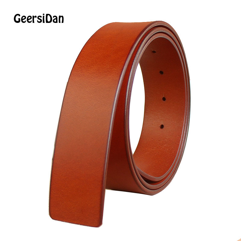 GEERSIDAN New male width 33mm & 38mm 100% Genuine Leather   Belt   for Men top quality Strap Vintage Jeans   Belts   without Buckle