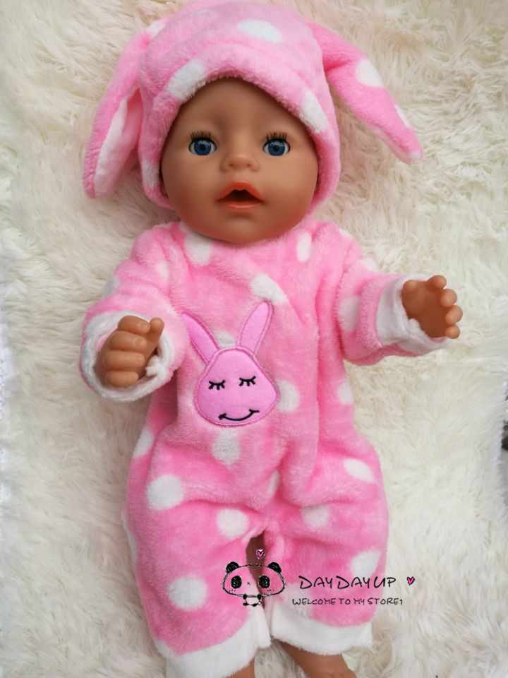 Pink leisure jumpsuits clothes Wear fit 43cm Baby Born zapf, Children best Birthday Gift doll rabbit clothes 2color choose leisure dress doll clothes wear fit 43cm baby born zapf children best birthday gift only sell clothes