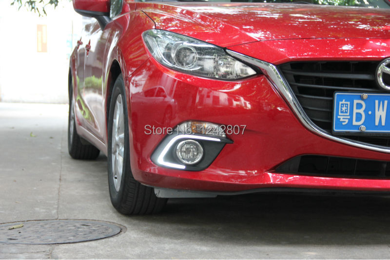 free shipping Guiding light and Dimming style LED car DRL daytime running lights with fog lamp