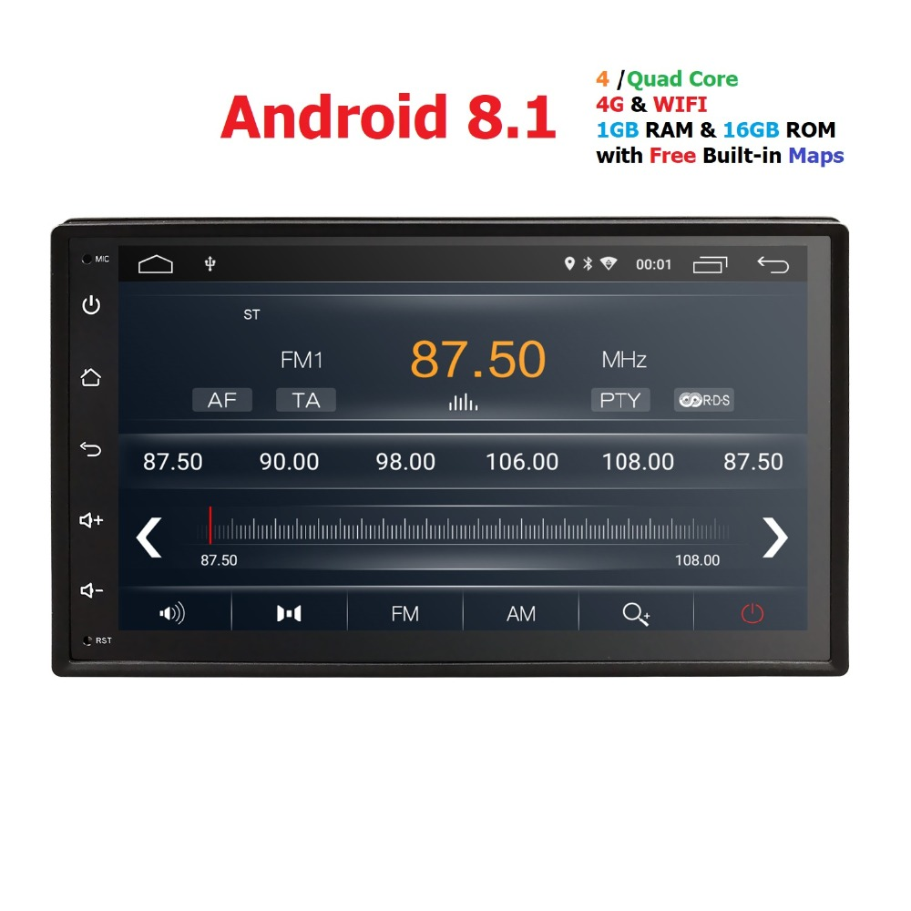 Voiture radio gps android8.1 2din Voiture Lecteur Audio GPS wifi Pour V W Nissan TOYOTA Volkswagen peugeot honda lifan byd multimédia dab +
