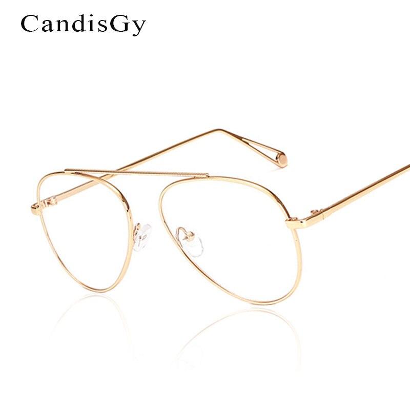 New pilot Glasses Frame Brand Designer Women Metal Optics Classic Eyeglasses Clear Transparent Lens High quality Eyeglasses