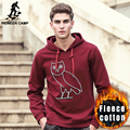 Pioneer Camp hooded Hoodies men autumn Winter fashion men hoodies casual 100%cotton thicken fleece warm male sweatshirt 677098