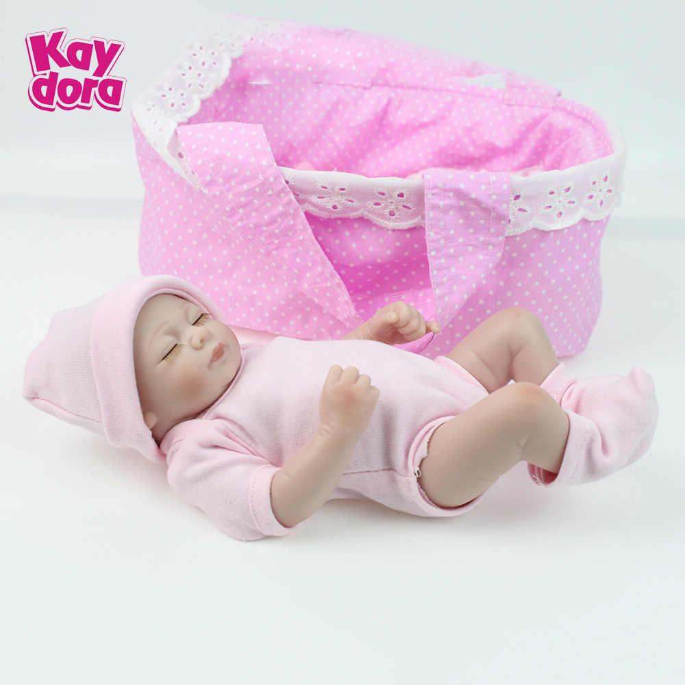 Kaydora 10 Inci 28 Cm Full Body Vinyl Silicone Reborn Boneka Bayi Manusia Hidup Mini Nyata Hidup Boneka Kecil Realistis Boneca bayi Mainan
