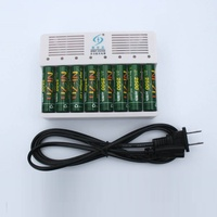 Alta qualidade 8Pcs 2500MWH baterias NiZn 1.6V AA Bateria Recarregável + portas 8 Ni Zn-NiMH AA AAA Carregador de bateria inteligente