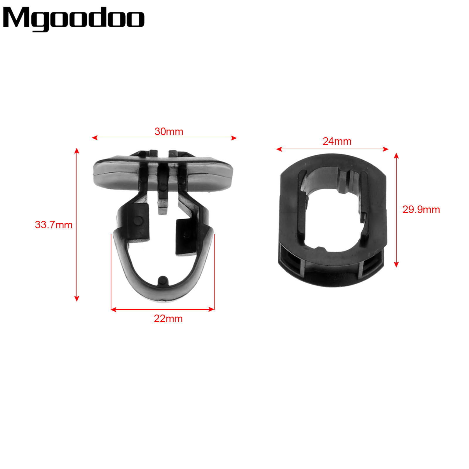 Image 2 - Mgoodoo 10set Side Skrit Trim Clips Auto Car Accessories For Mercedes Benz C/E/CLK class-in Auto Fastener & Clip from Automobiles & Motorcycles