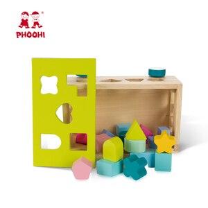 Image 3 - Blocco di legno Giocattolo Per Bambini Spingendo Forma Partita Puzzle Di Auto Giocattolo Giocattolo Educativo Per Il Bambino PHOOHI