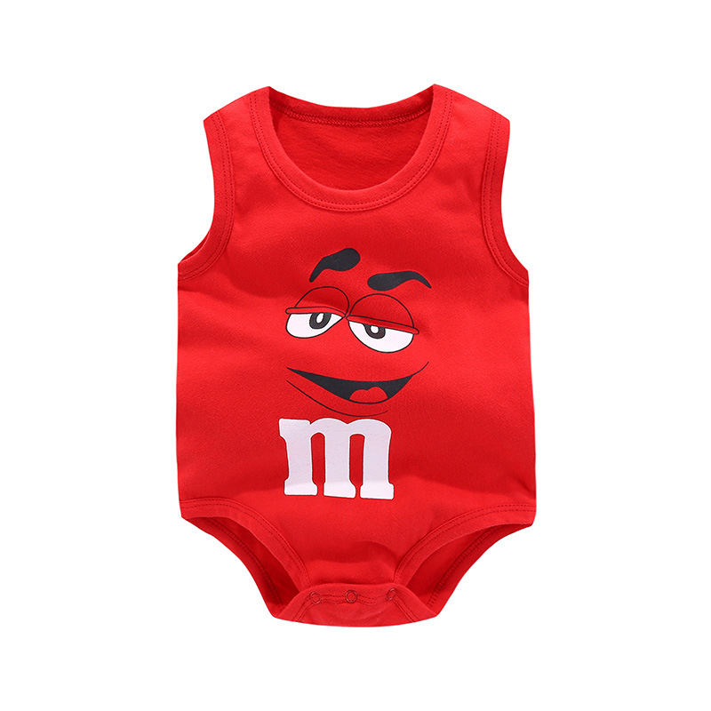 Fahion New Style Baby Sleeveless Summer Bodysuit Cotton Boys Vest Cute Cartoon Girls Jumpsuit Red Baby Body Roupas Bodysuits cartoon airplane style red