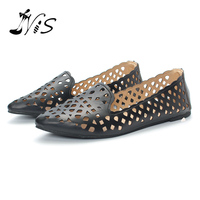 NIS 2017 Hot Sale Woman Flats New Ladies Shoes Fashion Solid Soft Loafers Summer Women Hollow