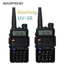 2-PCS Baofeng UV-5R Walkie Talkie Черный ham любитель двухстороннее Радио двухдиапазонный VHF/UHF 136-174/ 400-520 мГц Бесплатная доставка