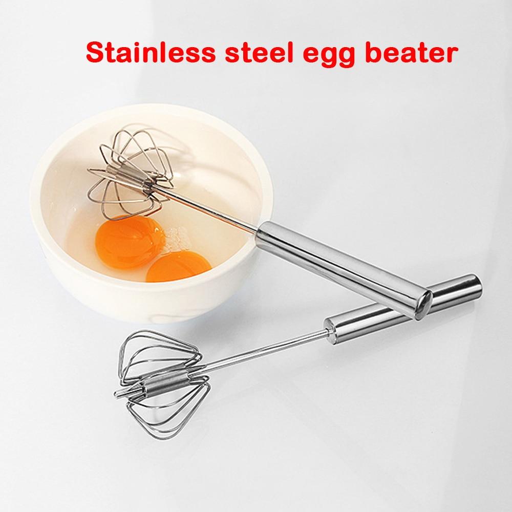 Hand Pressure Semi-automatic Rotating Egg Beater Home Kitchen Manual Egg Mixer