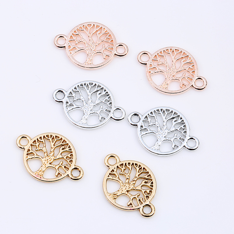 Mibrow 30pcs/lot Gold Silver Color Life Tree Charms Fit