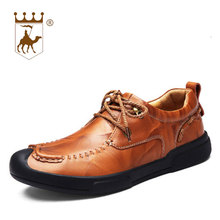 hot deal buy backcamel men's casual shoes leather manual trend breathable business casual shoes leisure male footwear size 38-44 high quality