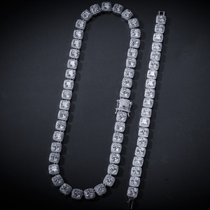 Image 5 - AAA Cubic Zirconia Choker Necklace Women Men Hip Hop Bling Iced Out 1 Row CZ Stone Tennis Chain Necklaces Rapper Jewelry