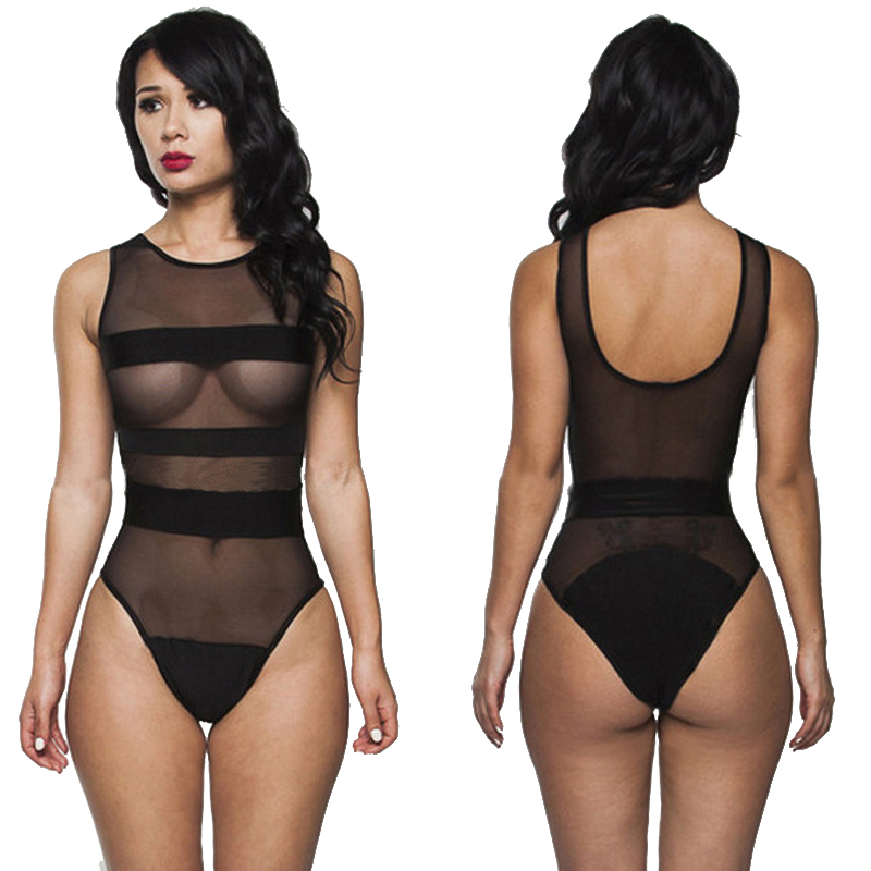 New Arrival Transparent Allure Lingerie Bathing Suits European American Female Indoor Swimsuits One Piece Sexy Mesh Swimwear