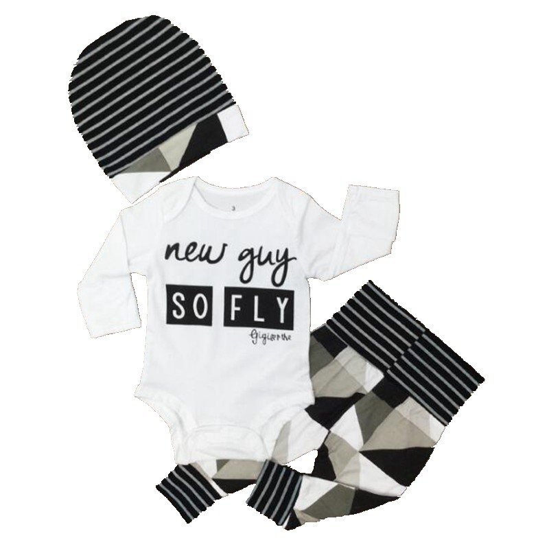 hello world baby boy clothing set long sleeve bodysuit pants cap vetement bebe garcon newborn. Black Bedroom Furniture Sets. Home Design Ideas