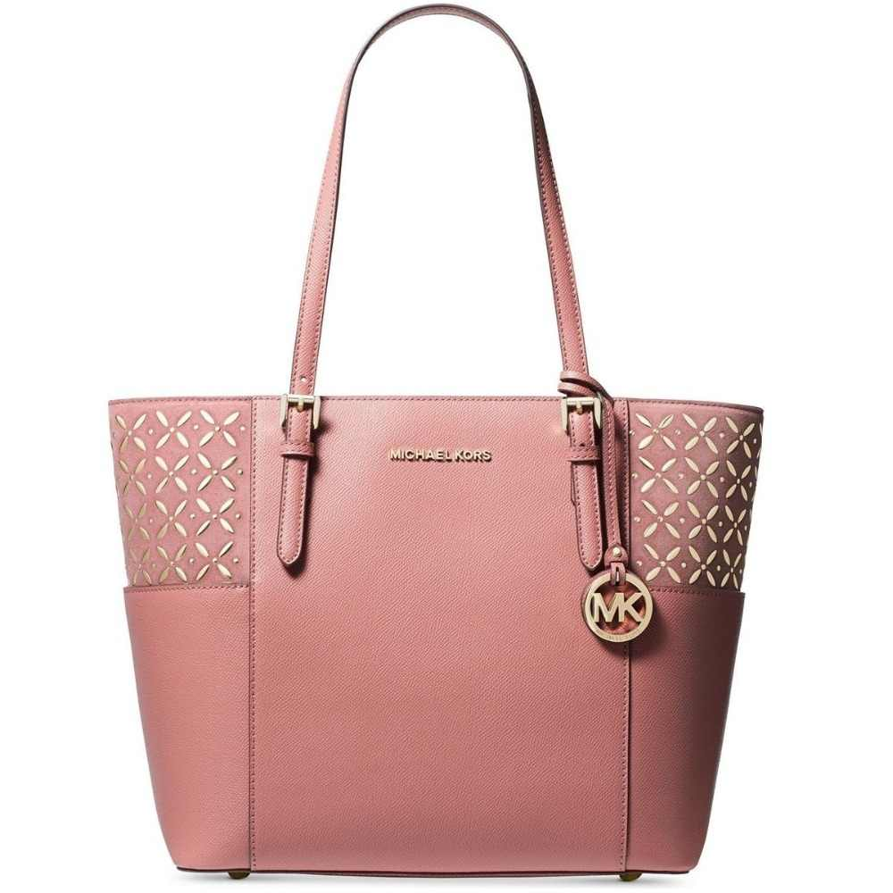 474a4adb5c56fc ... Michael Kors Jet Set Travel Tote (Rose/Gold) Luxury Handbags For Women  Bags ...