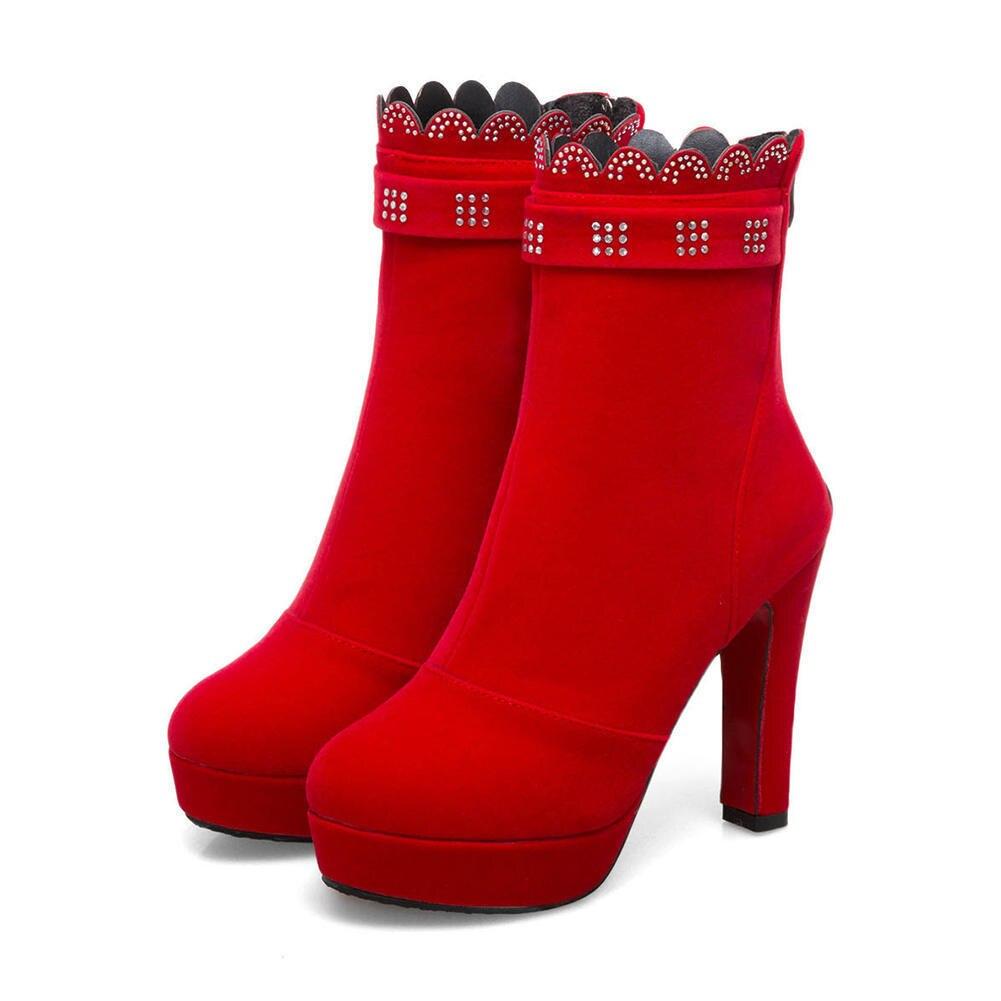 alti alla piattaforma Rosso 43 Doratasia Offerta Sexy Donna forti speciale 2018 Tacchi Fashion 34 New Nero Up Stivaletti Zip Scarpe Taglie Donna wqaOp71xq