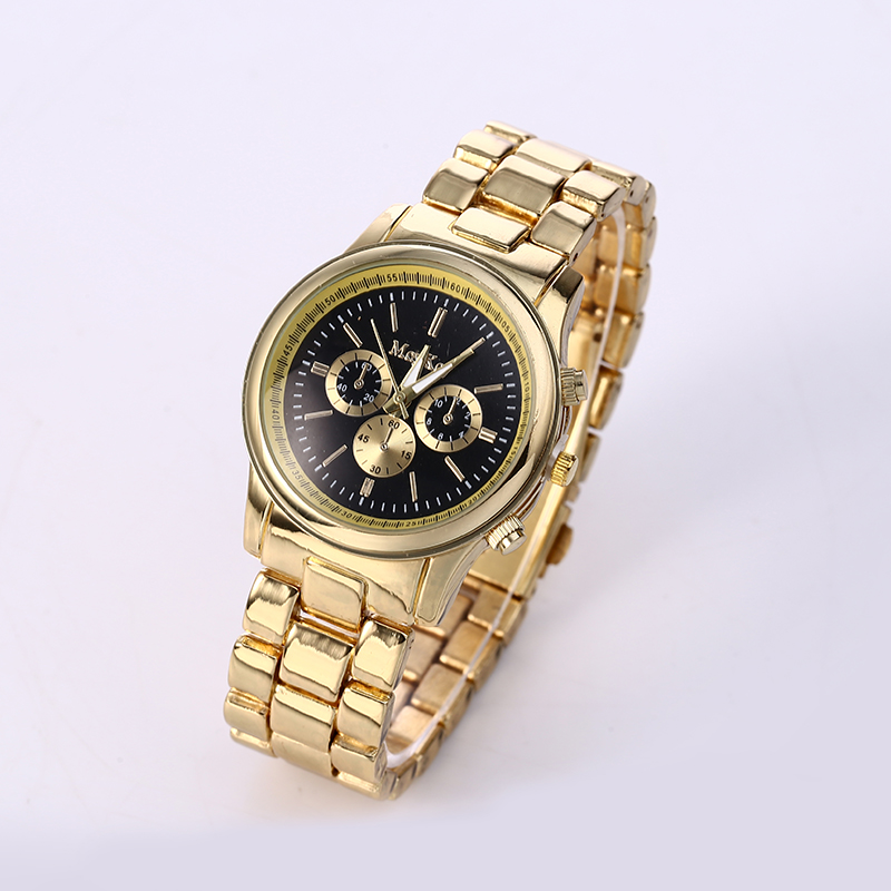 gold watches promotion shop for promotional gold watches hot top famous brand luxury watches men gold 3 eyes casual quartz watch stainless steel new dress watches relogio masculino
