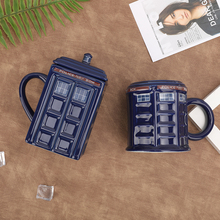 Creative Hand Painting Mugs Doctor Who Tardis Mug Porcelain Police Pavilion Milk Coffee Breakfast Office Personality Gifts