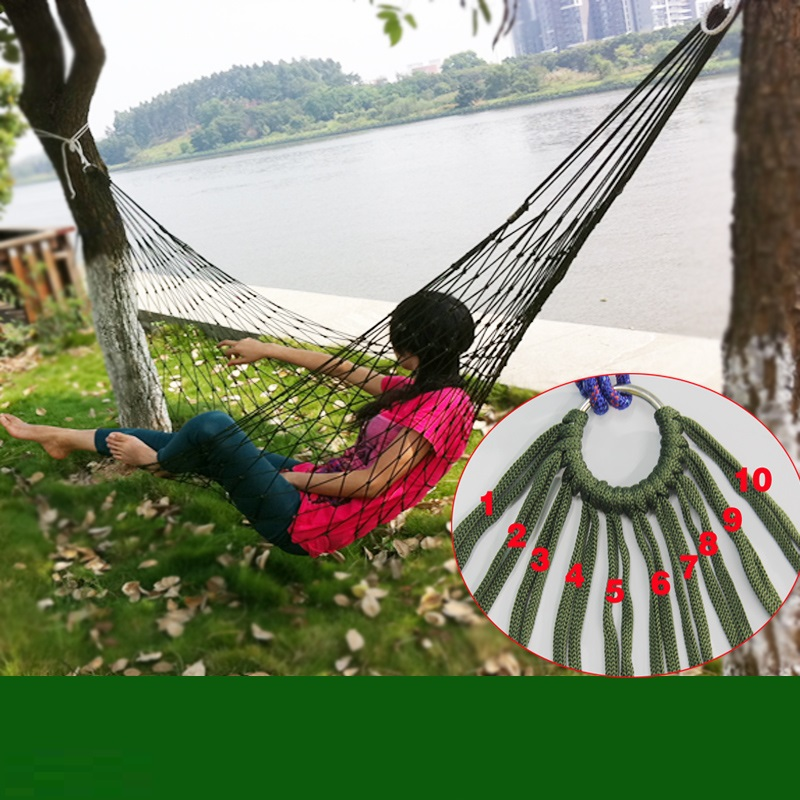 Load bearing 100KG Easy to carry outdoors Reticular overstriking Nylon rope Hammock Adult children Outdoor sport Swing newborn babies baskets cand load 0 10kg children 0 12 months kids travelling use bassinet easy to carry