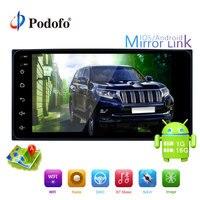 Podofo 2din Android Car Multimedia Player GPS WIFI 7'' Car Radio Mirror link USB 2 din Autoradio Bluetooth For TOYOTA Auto Radio