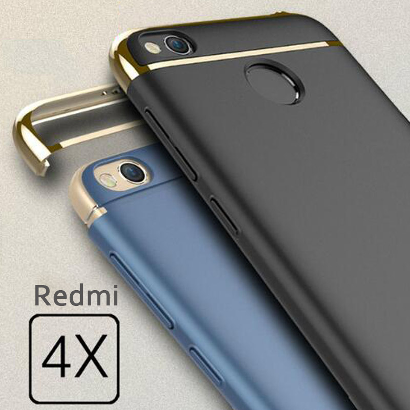 cheap for discount 4a065 ab992 US $4.99 |3 in 1 Luxury Case For Xiaomi Redmi 4x Cover 360 Degree  Protection Hard PC Mobile Phone Bag For Xiomi redmi 4 X 5.0 Shell Coque -in  ...