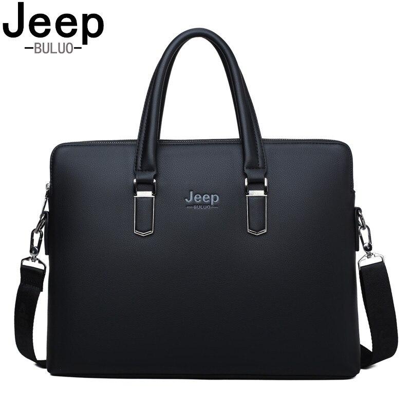 JEEP BULUO Famous Brand Famous Brand Shoulder Messenger Bags Causal Handbag Fashion Men Leather Bag Travel