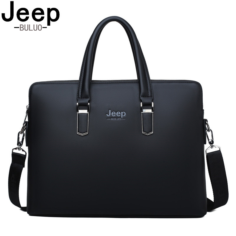 JEEP BULUO Famous Brand Famous Brand Shoulder Messenger Bags Causal Handbag Fashion Men Leather Bag   Travel Laptop     1826-2