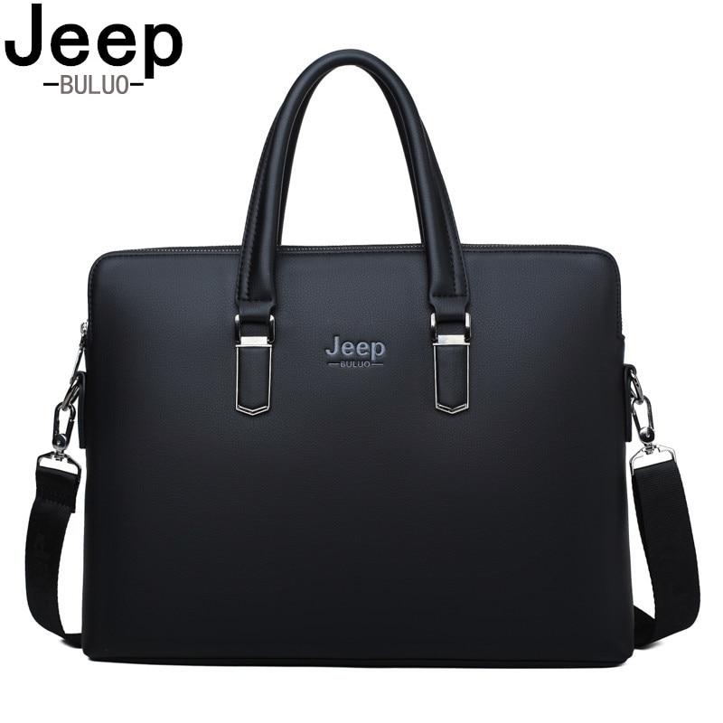 JEEP BULUO Famous Brand Famous Brand Shoulder Messenger Bags Causal Handbag Fashion Men Leather Bag   Travel Laptop     1826-2